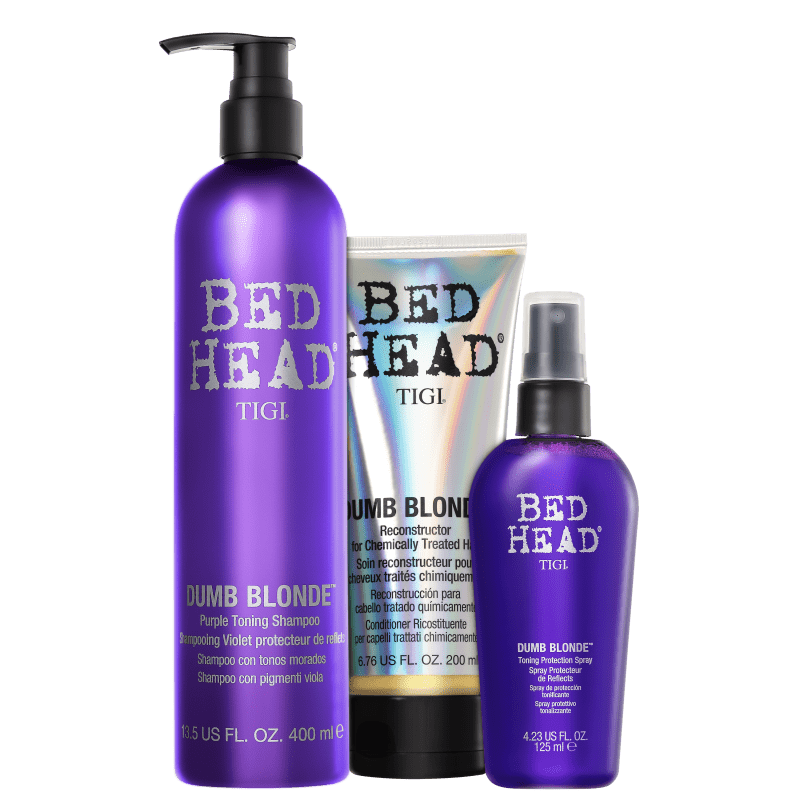 Kit TIGI Bed Head Dumb Blonde Purple Toning Trio (3 Produtos)