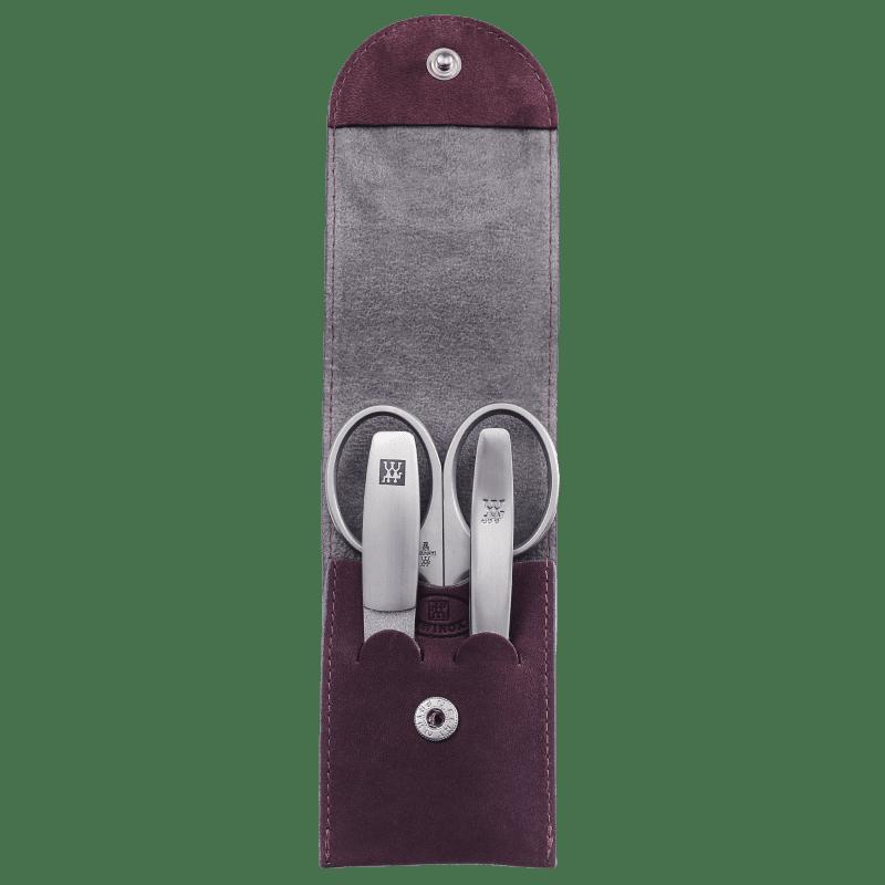 Tweezerman Estojo de Manicure Vinho de Bolso - 3 Produtos