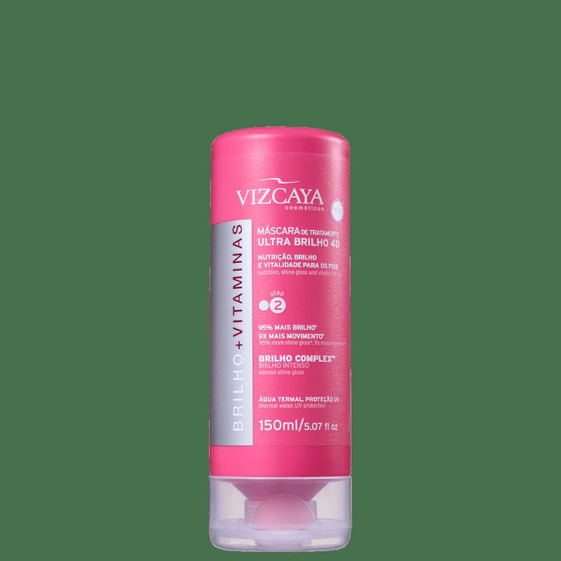 Vizcaya Brilho e Vitaminas Ultra Brilho 4D - Tratamento Capilar 150ml