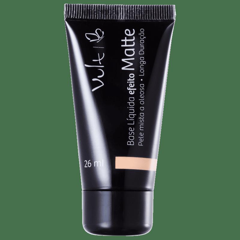 Vult Make Up Efeito Matte 04 Bege - Base Líquida 26ml