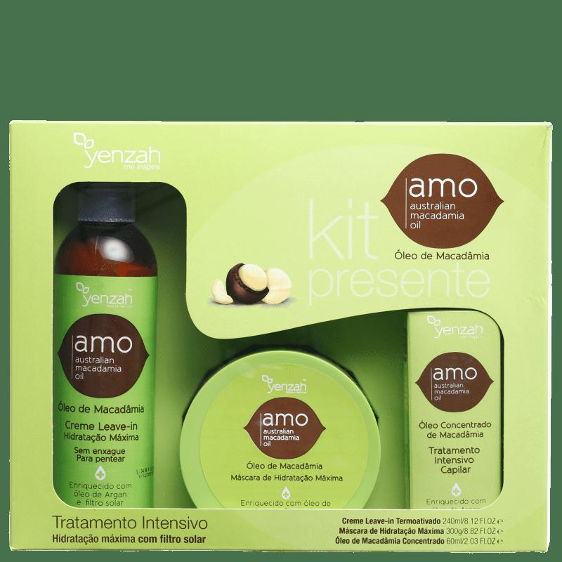 Kit Yenzah AMO Australian Macadamia Oil Tratamento Intensivo (3 Produtos)