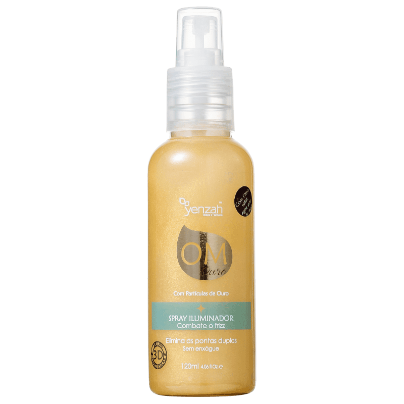 Yenzah OM Ouro - Spray de Brilho 120ml