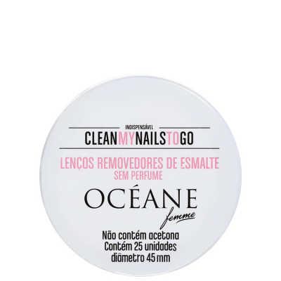 Clean My Nails To Go Sem Perfume - Lenço Removedor de Esmalte 25un