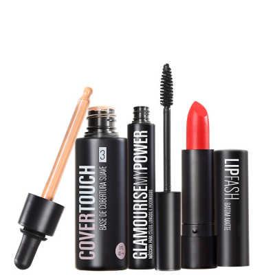 Cover Touch 3 Glamourise Lip Fash Cassandra Kit (3 Produtos)