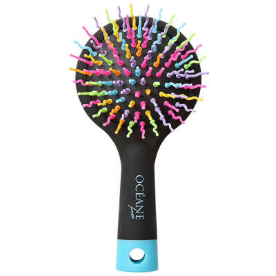 Rainbow Brush Preta - Escova Almofadada Pequena