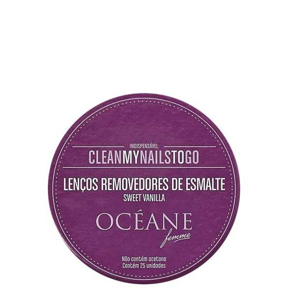 Clean My Nails To Go Sweet Vanilla - Lenço Removedor de Esmalte 25un