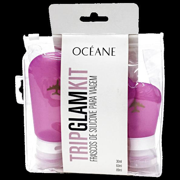 Océane Femme Trip Glam Kit – Frascos de Silicone para Viagem