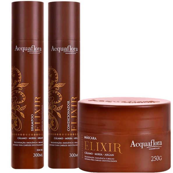 Acquaflora Elixir Secos e Danificados Kit (3 Produtos)