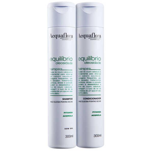 Acquaflora Equilíbrio Oleosidade Raiz Oleosa Pontas Secas Duo Kit (2 Produtos)