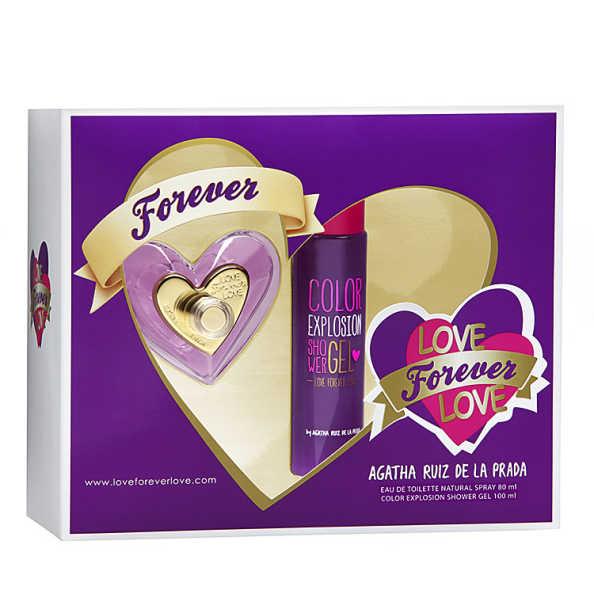 Conjunto Love Forever Love Agatha Ruiz de La Prada Feminino - Eau de Toilette 80ml + Gel de Banho 100ml