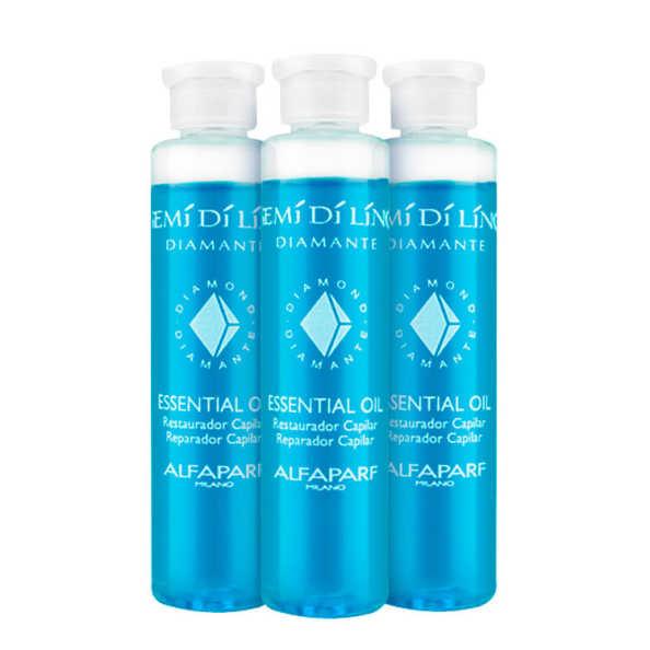 Alfaparf Semi di Lino Diamante Essential Oil - Ampola de Tratamento 3x13ml