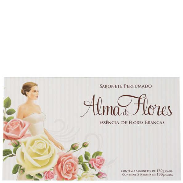 Kit Alma de Flores Essência de Flores Brancas - Sabonetes em Barra 3x130g