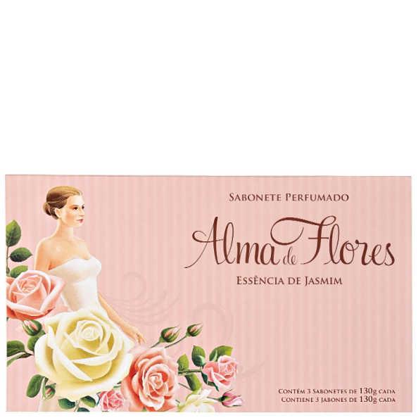 Kit Alma de Flores Essência de Jasmim - Sabonetes em Barra 3x130g