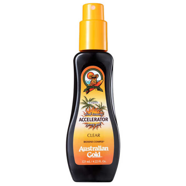 Australian Gold Accelerator Dark Tanning Spray Gel Clear - Spray Bronzeador 125ml