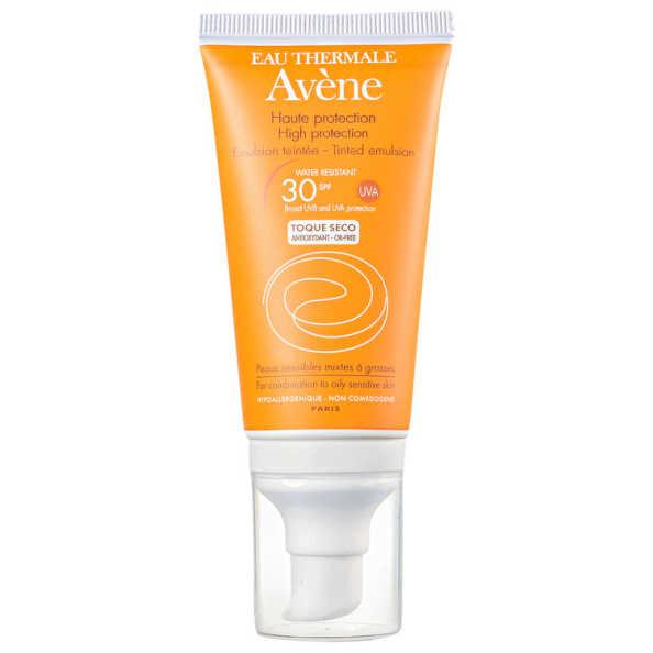Avène Haute Protection Emulsion Teintée FPS 30 - Protetor Solar Facial em Emulsão 50ml