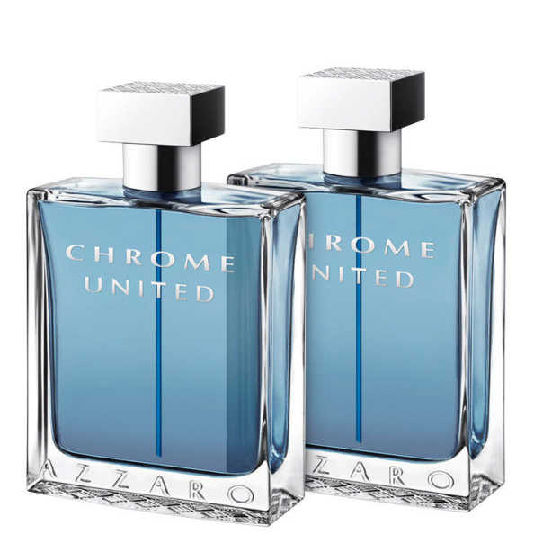 Conjunto Chrome United Azzaro Masculino - Eau de Toilette 2x30ml