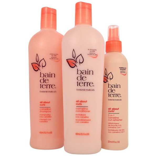 Bain de Terre All About Curls Camelina Refresh Kit (3 Produtos)