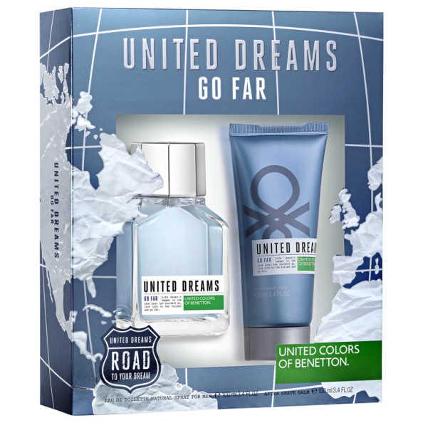 Conjunto Benetton United Dreams Go Far Masculino - Eau de Toilette 100ml + Gel Pós-Barba 100ml
