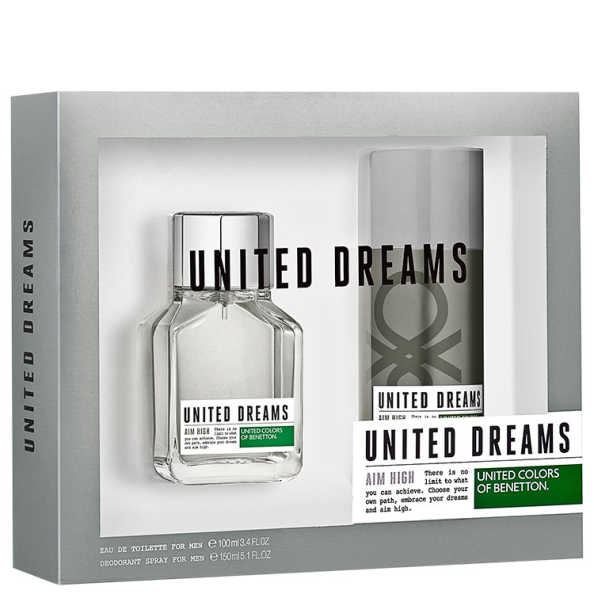 Conjunto United Dreams Aim High Benetton Masculino - Eau de Toilette 100ml + Desodorante 150ml