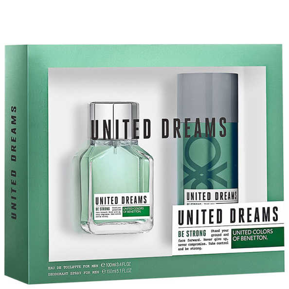 Conjunto United Dreams Be Strong For Men Benetton Masculino - Eau de Toilette 100ml + Desodorante 150ml
