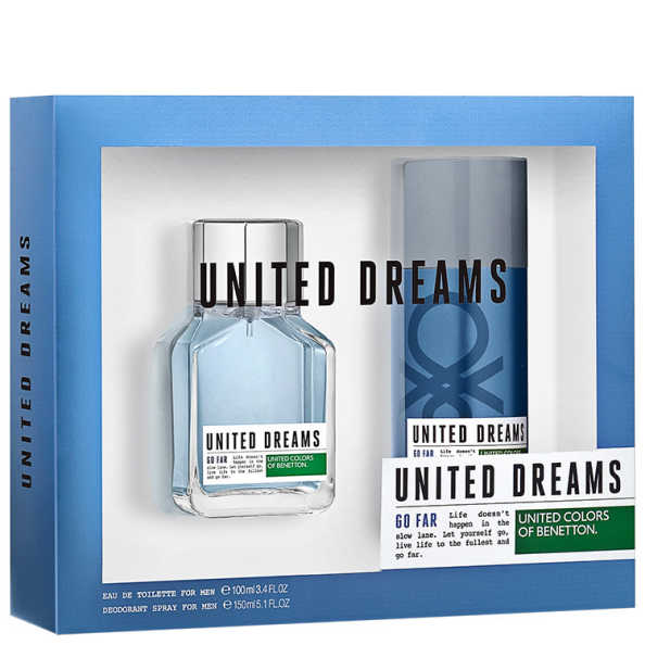 Conjunto United Dreams Go Far Benetton Masculino - Eau de Toilette 100ml + Desodorante 150ml
