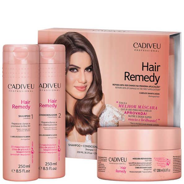 Cadiveu Professional Hair Remedy Reparador Kit (3 Produtos)