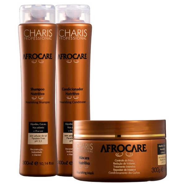 Charis Afrocare Tratamento Nutritivo Kit (3 Produtos)