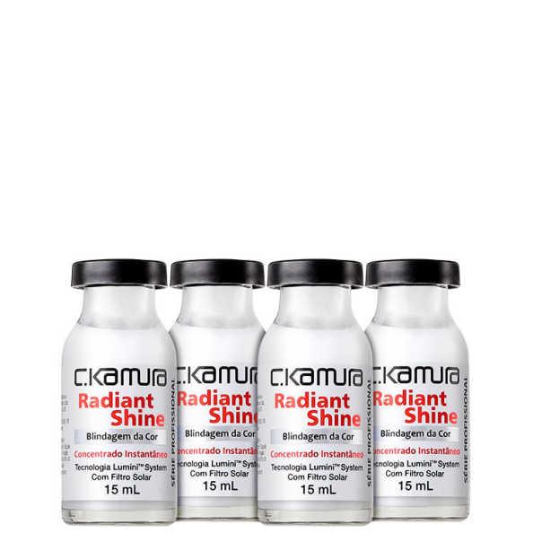 C.Kamura Radiant Shine Blindagem da Cor - Ampola de Tratamento 4x 15ml