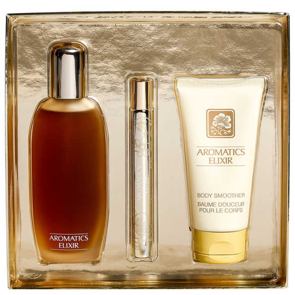 Conjunto Aromatics Elixir Riches Clinique Feminino - Eau de Parfum 100ml + Loção Corporal 75ml + Miniatura 10ml