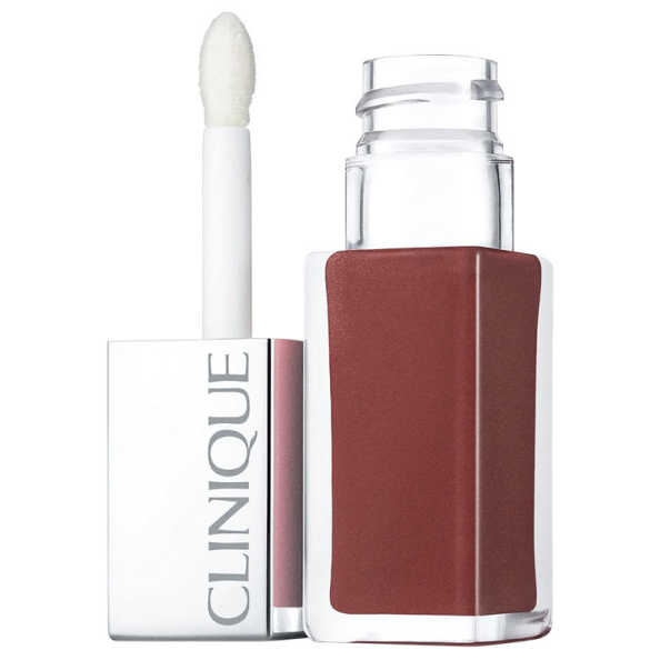 Clinique Pop Lacquer Lip Colour + Primer 1 Cocoa Pop - Batom Líquido 6,5g
