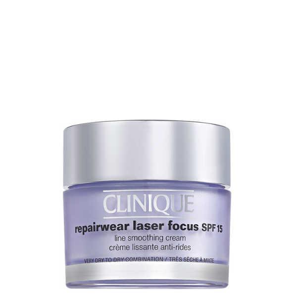 Clinique Repairwear Laser Focus SPF 15 Line Smoothing Cream 1 e 2 - Creme Anti-Idade (pele seca) 50 ml