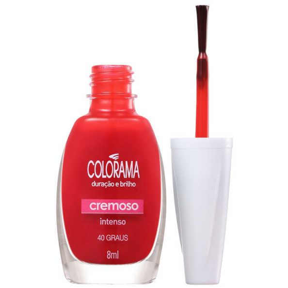 Colorama Verniz & Cor 40 Graus - Esmalte 8ml