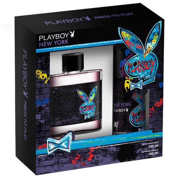 Estojo New York Playboy Eau de Toilette Masculino 100 Ml