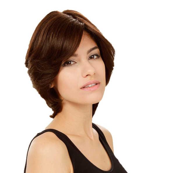 Crown Wigs Amanda Castanho Médio - Peruca 25cm