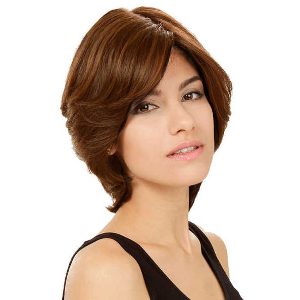 Crown Wigs Amanda Cor Castanho Médio/ Claro - Peruca 25cm