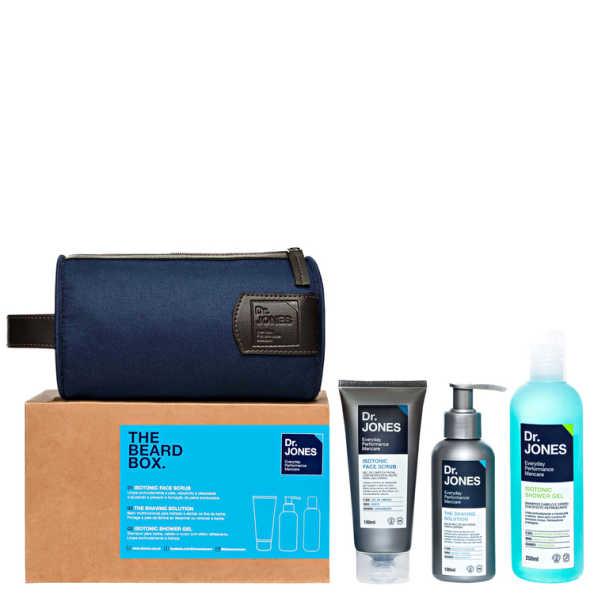 Kit Dr. Jones The Beard Box (3 produtos + Nécessaire)