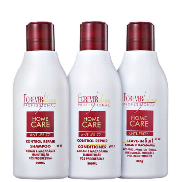 Forever Liss Professional Home Care Anti-Frizz Liso Protegido Kit (3 Produtos)