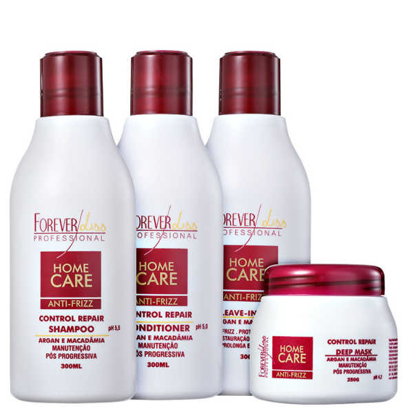 Forever Liss Professional Home Care Anti-Frizz Liso Total Kit (4 Produtos)