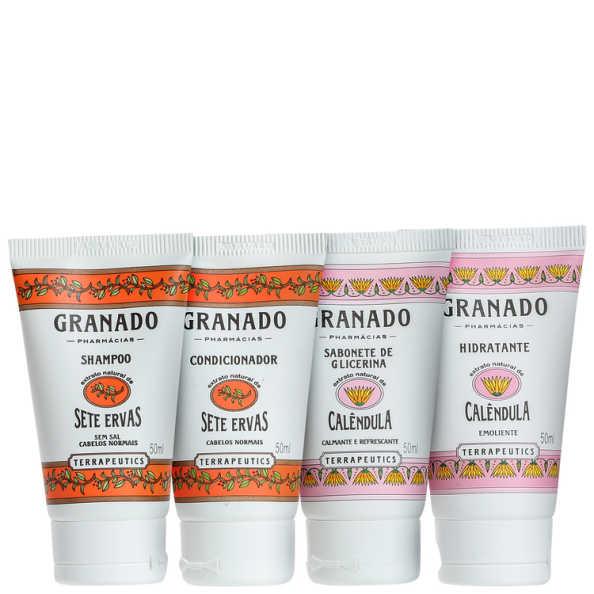 Kit Banho Granado Terrapeutics Amenities Calêndula Sete Ervas (4 produtos)