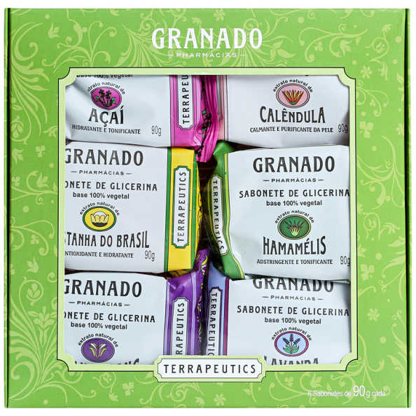 Kit Granado Terrapeutics Mix - Sabonetes em Barra 6x90g