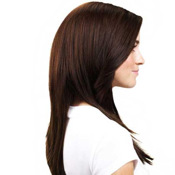 Hairdo Liso em Camadas - Chocolate Com Mechas Cobre 63 Cm