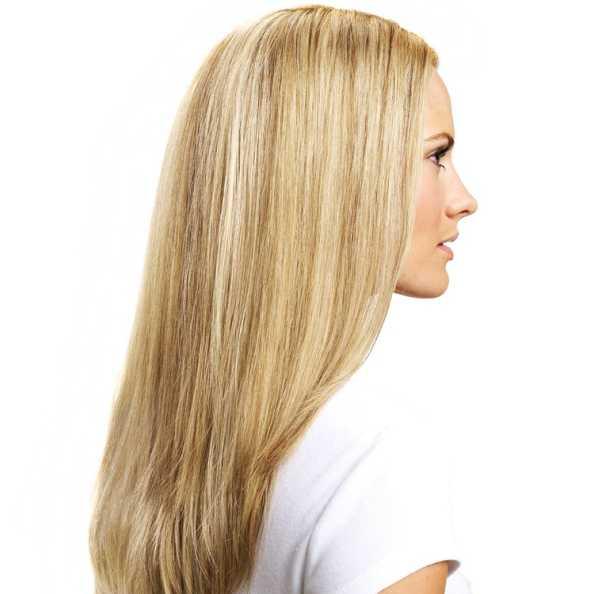 Hairdo Liso em Camadas - Louro Com Mechas Super Claras 48 Cm