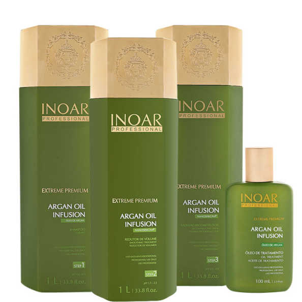 Inoar Extreme Premium Argan Oil Infusion Full Kit (4 Produtos)