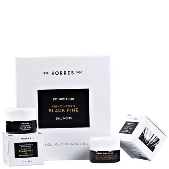Korres Black Pine Pele Normal a Mista Kit Dia e Noite (2 Produtos)