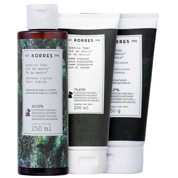 Kit Korres Chá de Menta Mint Infusion (3 produtos)