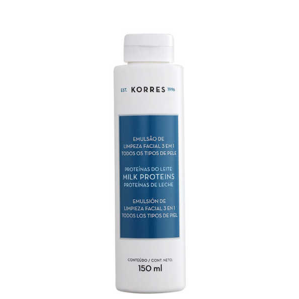 Korres Proteínas do Leite - Emulsão de Limpeza Facial 3 Em 1 150ml
