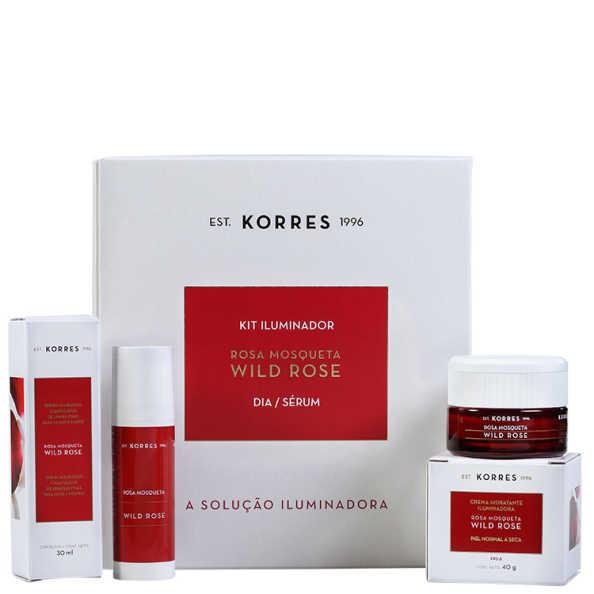 Korres Wild Rose Pele Normal a Seca Kit (2 Produtos)