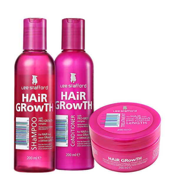 Lee Stafford Hair Growth Treatment Kit (3 produtos)