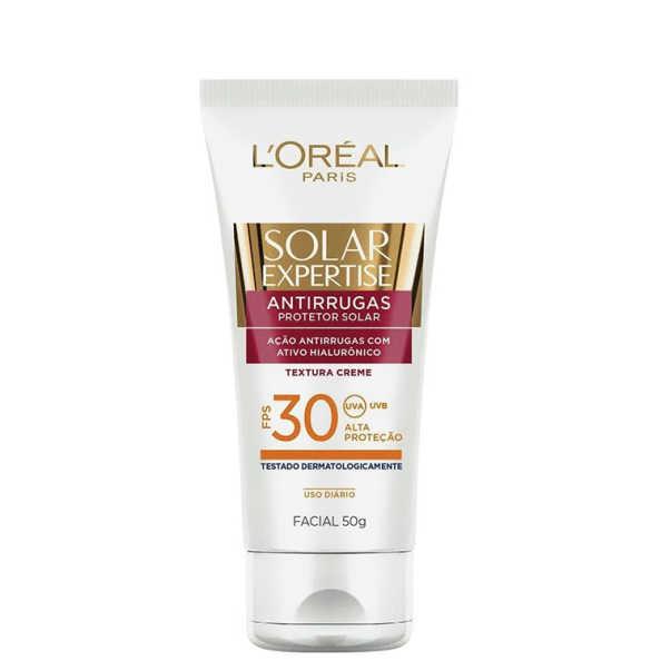 L'Oréal Paris Solar Expertise Bloqueador Solar Antirrguas FPS 30 - Protetor Solar Facial 50g