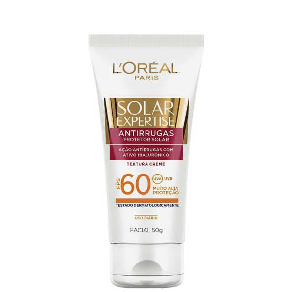 L'Oréal Paris Solar Expertise Bloqueador Solar Antirrugas FPS 60 - Protetor Solar Facial 50g